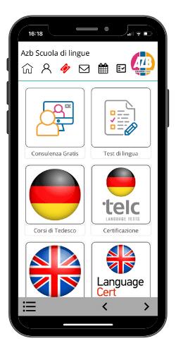 schermata app AZB prenota la tua consulenza gratuita